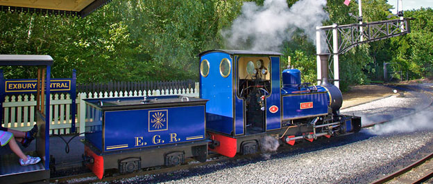 Exbury Steam train - a must for the youngsters